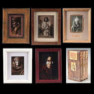 GROUP OF 6 NATIVE AMERICAN COLLECTORS SUITE