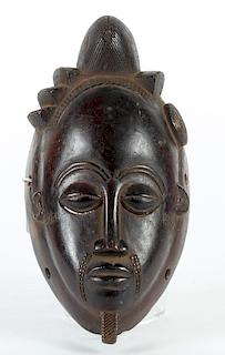 Baule Kpan Mask, Mid 20th Century