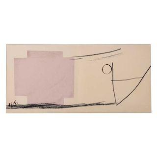 Antoni Tàpies. Sin título. Firmada en plancha. Litografía sin número de tiraje.