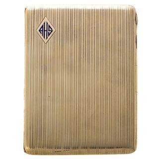 A Vintage Cigarette Case in 14K Gold
