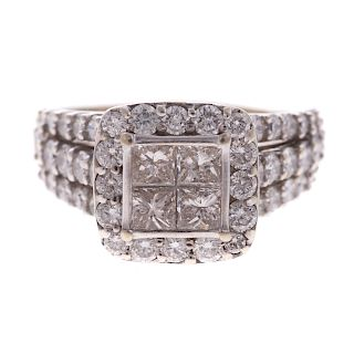 A Ladies 2ct Diamond Fashion Ring in 14K