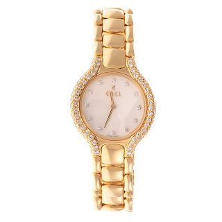 A Ladies Ebel Watch with Diamonds in 18K Gold