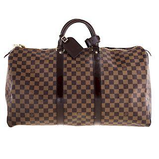 A Louis Vuitton Damier Ebene Keepall 50