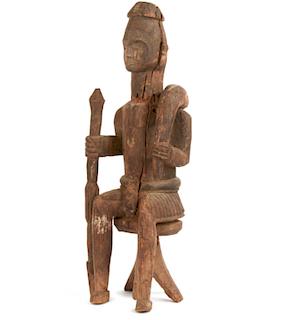 Igbo Seated Community Ikenga Figure, Early 20th Century