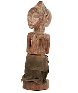 Standing Luba Janus Figure, Ex Jean-Pierre Hallet