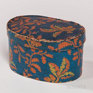 Small Blue and Orange Wallpaper Box
