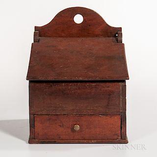 Walnut Slant-lid Salt Box