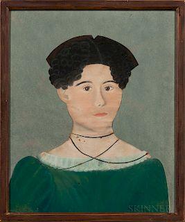 Ruth Henshaw Miles Bascom, (Massachusetts, 1772-1848)  Portrait of a Young Lady