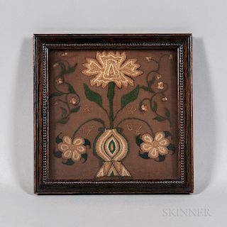 Small Floral Needlework Picture