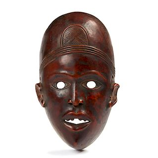 Yombe Wooden Mask, Mid 20th Century