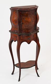 MARQUETRY CABINET ON STAND