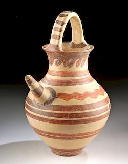 Tall Mycenaean Pottery Spouted Askos w/ TL