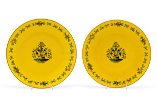 A Pair of French Plates<br>20TH CENTURY<br>having