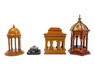 A Group of Architectural Models<br>four total.<br