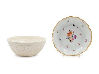 Two Porcelain Bowls<br>comprising a Vienna and Sp