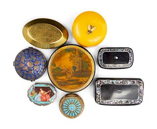 A Collection of Ten Continental Snuff Boxes<br>EA