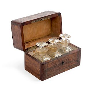 A Mother-of-Pearl Inlaid Rosewood Box<br>19TH CEN
