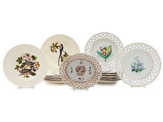 A Group of Porcelain Plates<br>17 total.<br>Diame