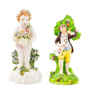 Two Staffordshire Pottery Figures<br>Height of ta