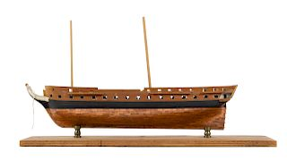 A Model of the USS Constitution<br>the unfinished