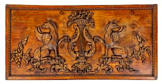 A French Carved Walnut Panel <br>EARLY 19TH CENTU