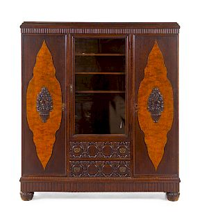 A German Bookcase<br>19TH CENTURY<br>Height 72 x