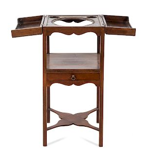 A Georgian Style Mahogany Wash Stand<br>19TH CENT