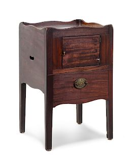 A Georgian Style Mahogany Commode Cabinet<br>19TH