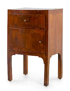 A Continental Fruitwood Veneered Commode<br>19TH
