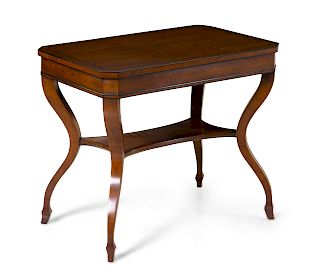 An American Parcel Ebonized Occasional Table<br>2