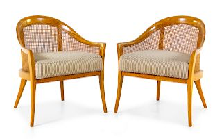 A Pair of Modern Caned Bergeres<br>MID-20TH CENTU