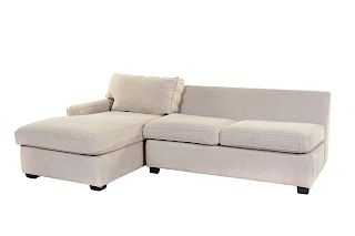 A Contemporary Upholstered Sectional Sofa<br>MITC