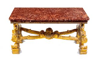 A Continental Giltwood Low Table<br>19TH CENTURY<