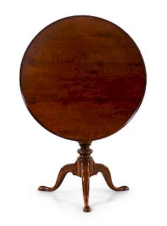 An English Mahogany Tea Table<br>The Base First H