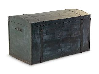 A Painted Chest<br>Height 21 x width 37 1/4 x dep