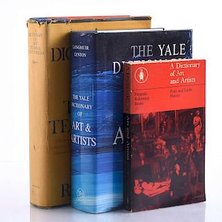 SET OF 3 DICTIONARIES OF ART AND ARTISTS