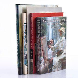 4 BOOKS OF AMERICAN FOLK PAINTING, A. ADAMS PORTFOLIO
