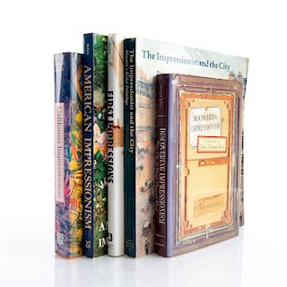 GROUP OF 5 BOOKS ON IMPRESSIONISM