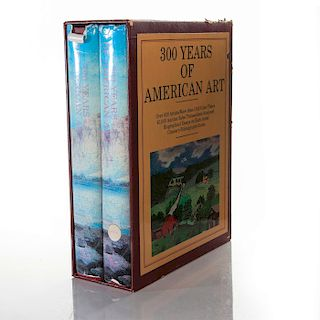 SET OF 2, 300 YEARS OF AMERICAN ART BOOKS