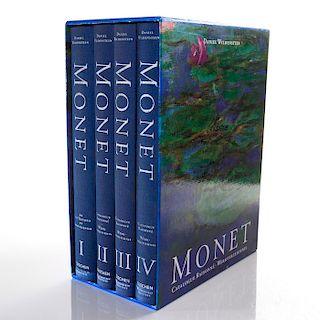 MONET, THE TRIUMPH OF IMPRESSIONISM, 4 VOL., BOOKS