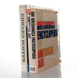 2 BOOKS, EDWARD HOPPER; ENCYCLOPEDIA OF AMERICAN ART