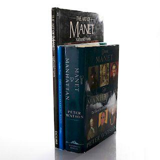 3 BOOKS, ON EDOUARD MANET