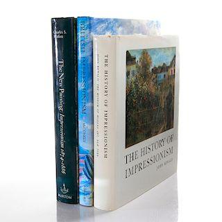 SET OF 3 ART BOOKS, IMPRESSIONISM MOVEMENT