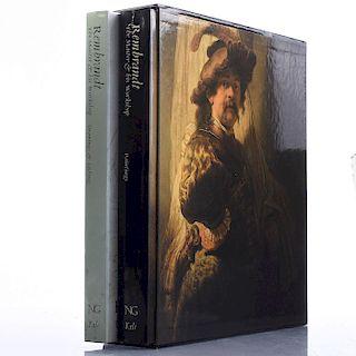 2 BOOK SET ON REMBRANDT HARMENSZOON VAN RIJN