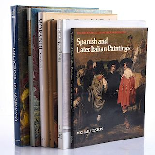 6 BOOKS ON SPANISH AND ITALIAN PAINTINGS