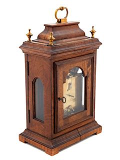 A French Mahogany Cased Mantel Clock<br>FIRST HAL