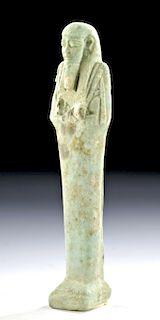Egyptian Late Dynastic Faience Ushabti