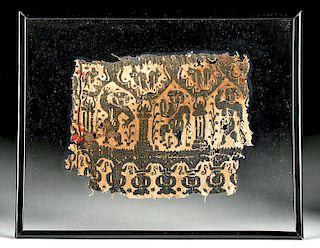 Egyptian Coptic Textile Fragment w/ Dancers