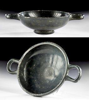 Greek Apulian Glazed Pottery Kylix