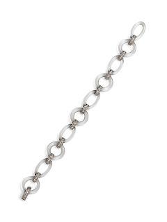 An Art Deco Platinum, Diamond and Rock Crystal Bracelet,